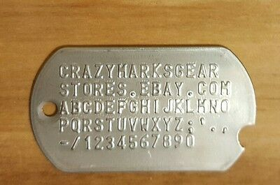 Wwii / Korean War Style Notched Custom Dog Tag Tags By Military Veteran Matte