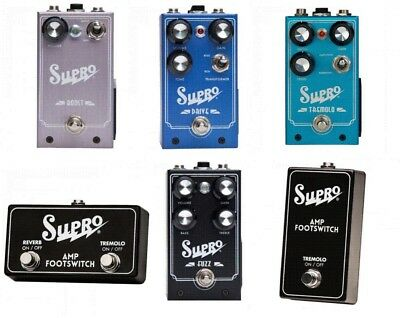 Supro Guitar Effects Pedals - Choice of Tremolo, Drive, Boost, Fuzz, Switches