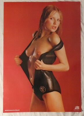 Lindsey In Her Diving Suit 1984 Poster Bare Breasts Babe Topless Girl