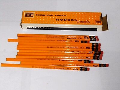 Vintage Box of 12 Eberhard Faber Mongol 482 Never Sharpened Pencils