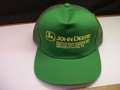 John Deere Green Hat Smith's Implements Inc. Vintage Old Store Stock New w/ Tag