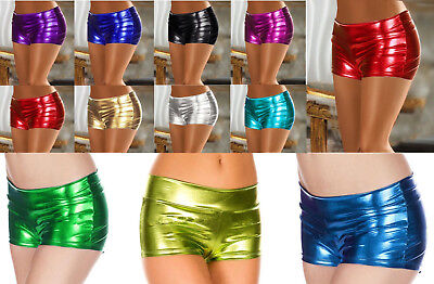 SeXy Wetlook Shorts Hot Pants Panty Lack Panty Hotpants Metallic GoGo XS S M
