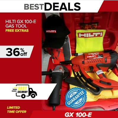 Hilti Gx 100 E Gas Tool, Brand New, Free Grinder & Extras, Durable,fast Shipping