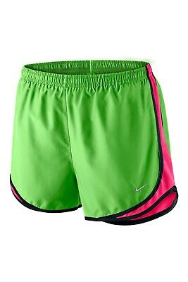 NWT! Nike 624278 Color 316 Tempo Womens Green/Pink Running Shorts Size XS