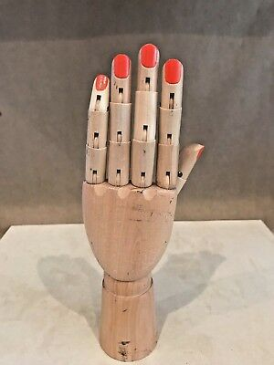 Wood and Plastic Jointed Moveable Display Mannequin Hand - Great for Home!!