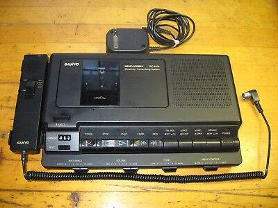 sanyo memo - scriber trc - 8800 dictating transcribing system / new foot pedal