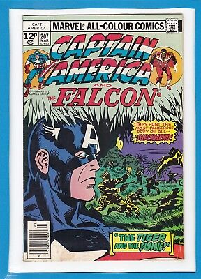 Captain America & The Falcon #207_March 1977_Fine_Bronze Age_Jack Kirby_Uk!