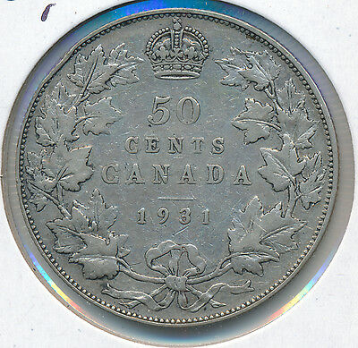 Canada 50 Cents 1931 - VG+   Retail $40