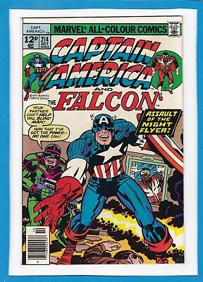 Captain America & The Falcon #214_October 1977_Very Fine_Jack Kirby_Uk Variant!