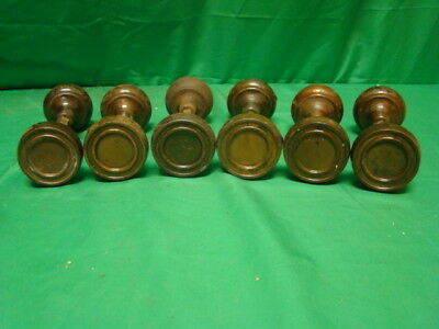 Antique Set Of 6 Steel Metal Ornate Door Knob Sets 12 Knobs