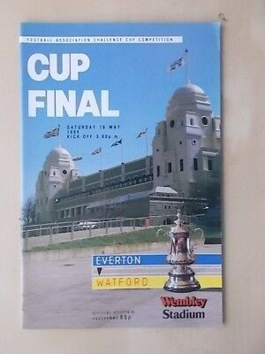 EVERTON v WATFORD - FA CUP FINAL - PROGRAMME 1984 - MINT