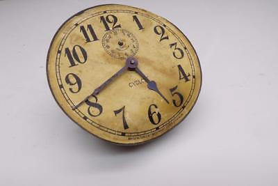 """Early Waterbury """"Cyclone""""  Brass Alarm Clock 4-1/2"""" Dial and Movement D082c"""