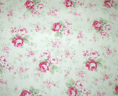 """31"""" Remnant Cottage Shabby Chic Slipper Roses Washed Roses PWTW091-White"""