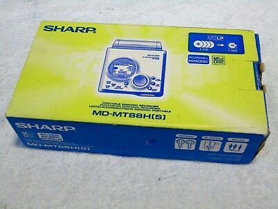 Brand New & Boxed! Sharp MD-MT88H Silver Portable MDLP MiniDisc Recorder Player