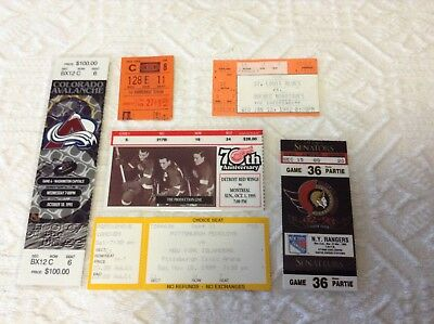 NHL Ticket Stubs ...6 different arenas