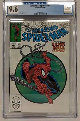 Amazing Spider-Man #301 Cgc 9.6 Todd Mcfarlane, Silver Sable!