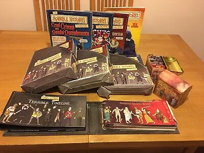 Horrible Histories Magazine Collection 1-80, timelines, cards