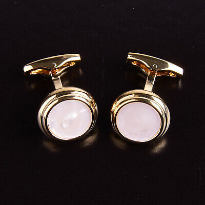 Opal Style Button Men's Cuff Links Sexy Luxury Fashion Silver Jewelry Cufflinks