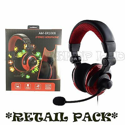Box Deluxe Headset Headphone With Microphone For Xbox One & S X Ps4 Mac Tablets
