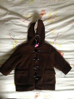 Georgeous Burberry baby boy duffel coat Brown 18 months great condition RRP £285