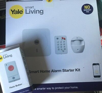 Yale Smart Home Alarm Starter Kit SR-310 free panic button freepost
