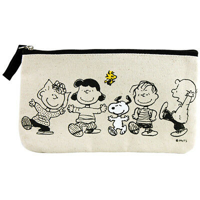 NEW PEANUTS Gang Zippered Canvas Pouch Carries Pencils Pens Markers Cosmetics +