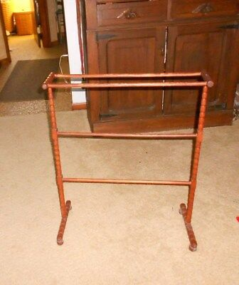Vintage Wood Blanket Stand!    A+  Condition!     L@@k!   Buy It Now!