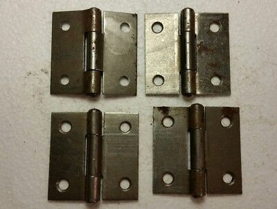 4 Matching Old Vintage  Steel Hinges (1046)