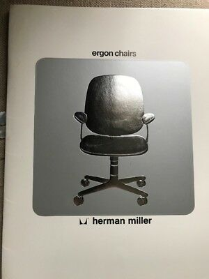 Vintage Herman Miller 1976 Ergon Chair Advertisement Brochure