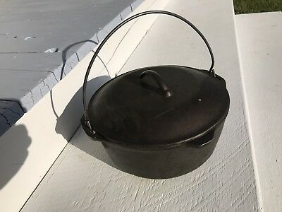 USA Antique Cast Iron Dutch Oven Pan Griswold Style Kitchen Cookware