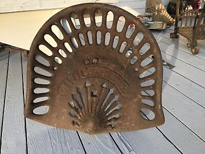 Antique Cast Iron Buckeye Tractor Seat American Folk Art Country