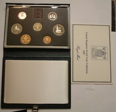 1987 Deluxe PROOF SET of Great Britain SUPERB GEM in original with COA 7 pieces
