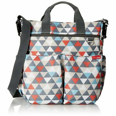 SKIP HOP Duo Signature Diaper Bag Baby Tote/Shoulder Bag SkipHop, Triangles