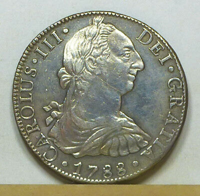 Mexico 8 Reales 1788 Mo-FM Almost Uncirculated