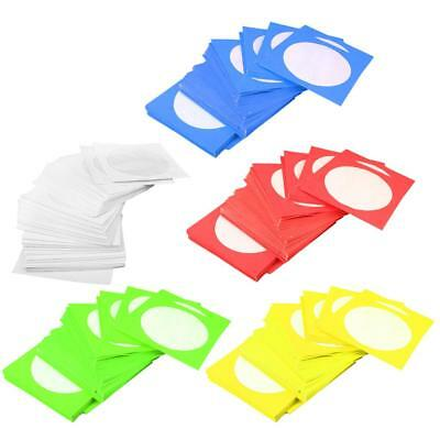 500x CD DVD Paper Sleeves Cover Holder with Flap & Clear Window Envelopes