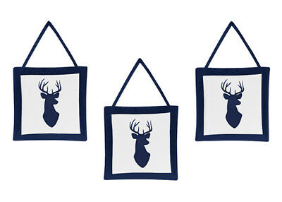 Wall Art Decor Hanging For Jojo Designs Woodland Deer Boys Baby Kids Bedding Set