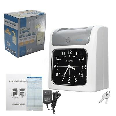 Electronic Time Employee Recorder Attendance Time Clock Bundy Timecards w/ Cards