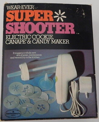 Array of Wear-Ever Super Shooter Electric Cookie Press Replacement Parts U-Pick