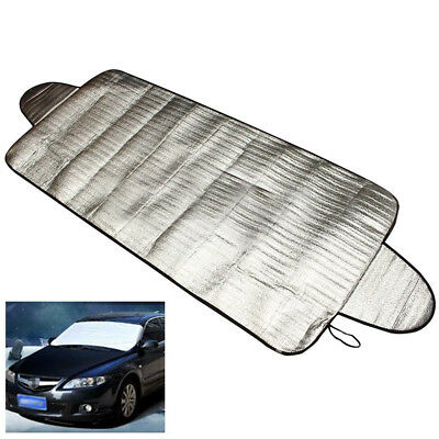 Silver Auto Car Magnetic Snow Ice Sun Dust Windshield Cover Protector Shield Kit