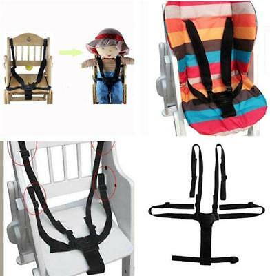 5-Point Baby Kids Harness Seat Belt Strap Portable Stroller High Chair Pram LD