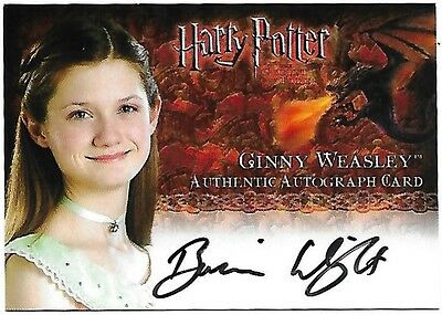 Harry Potter and the Goblet of Fire Update Autograph Card Bonnie Wright as Ginny