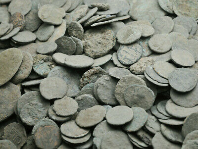 Ancient roman coins uncleaned