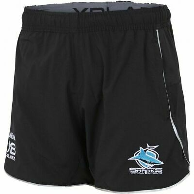 Cronulla Sharks NRL 2018 Players X Blades Black Training Shorts Size S-5XL!
