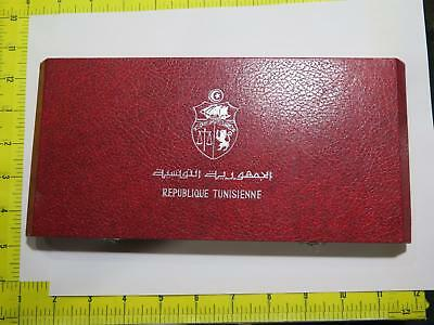 Republic Tunisia 1969 Deep Cameo Proof Set Toning Old World Coin Collection Lot