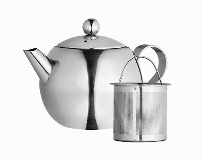 Teapot with Tea Infuser 1000ml, Stainless Steel, Tea Pot,