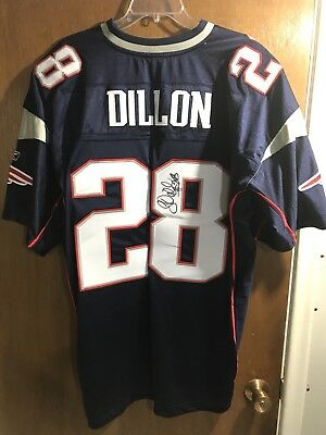 5ec4ee86e Authentic Reebok Cory Dillon New England Patriots Autographed Jersey Size 52