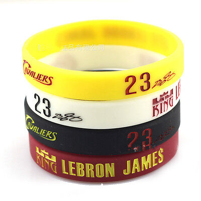 NBA LEBRON JAMES 23 Soft Silicone Wristband Rubber Bracelet Basketball Sport Hot