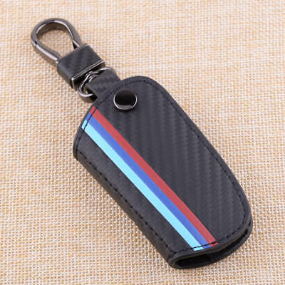M-Colored Carbon Fiber Pattern Leather Key Holder  for BMW 2 3 4 5 6 7 Series X1