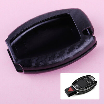 For Mercedes Benz Real Carbon Fiber Remote Keyless Key Cover Case Shell