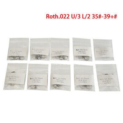 10X Dental Orthodontic Roth 022 1st Molar Bands& Buccal Tube 35# to 39+# Azdent